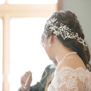 スイートリボン 髪飾り 結婚式に!