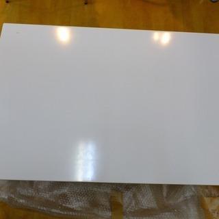 ホワイト 折りたたみローテーブル 高さ32cm×横90cm×幅6...