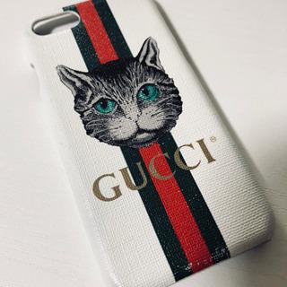 iPhone8のスマホケース GUCCIの猫デザイン☆