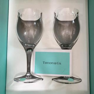 【再値下げ‼️】⭐️未使用   TIFFANY & Co.  スウィングワイン ペアグラスの画像