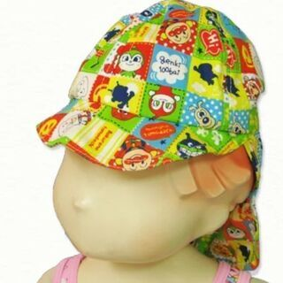 アンパンマン⭐日よけ付き帽子