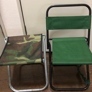 パイプ椅子2つセット