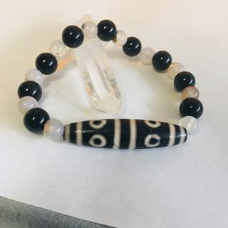 【新品】八眼天珠、オブシディアン、瑪瑙のブレスレット