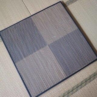 1年間使用★ニトリ置き畳12枚セット★6畳分 チェックブルー
