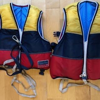 幼児用の浮力補助ベスト(ライフジャケット)大小セット