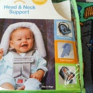 ★新生児専用★頭と首のサポートパッド★ベビーシートやベビーラック...
