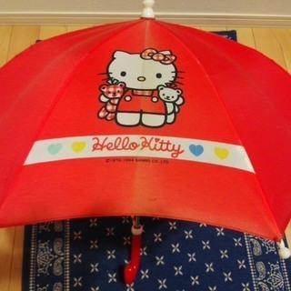 ★キティちゃんの赤い傘★