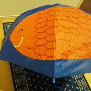 ★オレンジの魚の青い傘★