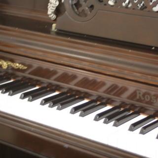 ローゼンストック 猫脚ピアノと椅子、カバー