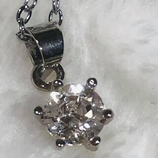 【スワロフスキー】大粒1粒ダイヤモンドK18ホワイトゴールド