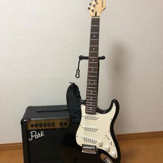 エレキギター、アンプセット【初心者や練習用に】