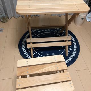 値下げ!折り畳みテーブルと椅子のセット