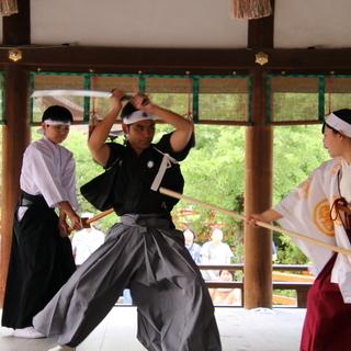 世界遺産である京都下鴨神社で柳生新陰流を披露しませんか?久武館道場(^^)/~~~ - 名西郡