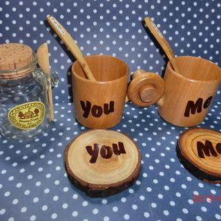 木製ティーカップセット