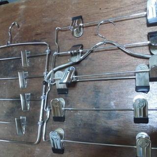 金属製の物干し「衣類掛け兼用」2個(新品同様品)