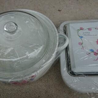 ホーローの鍋と保温プレートのセット