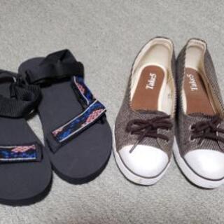 ❇️スポーツサンダルと靴 24、5サイズ