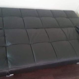 ソファベッド黒美品