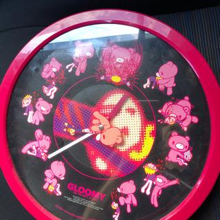 0189   GLOOMY 壁掛け時計 ピンク💕ラブリー