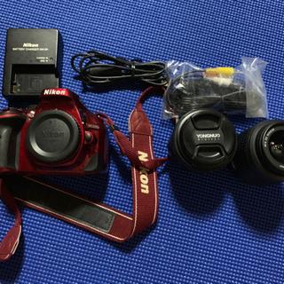 【大幅値下げ】NikonD5200レンズキット+単焦点、ストロボ