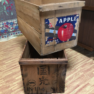 りんご箱  2個セット