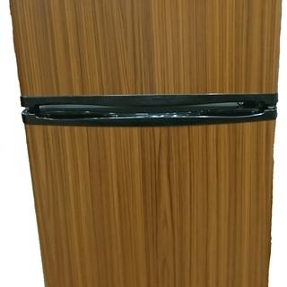 [安心の6ヶ月保証] 2016年製 木目の2ドア冷蔵庫  [トレ...