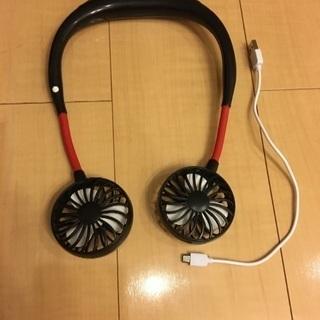 携帯扇風機 首かけ携帯扇風機 首かけ 充電式 USB ハンディーフ...
