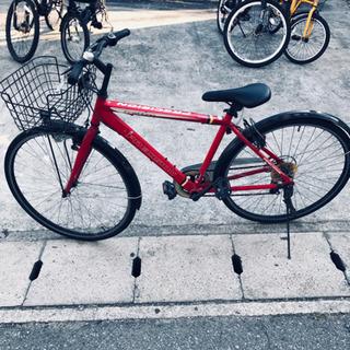 試運転良好、PRECISIONクロスバイク、変速1×7.カラー赤...
