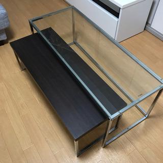 テーブル おしゃれ リビング ガラステーブル ローテーブル