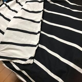 【交渉中】IKEA リバーシブル風・掛けカバー 枕カバー2つ付き