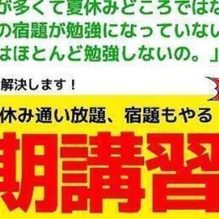 無料の夏期講習受付開始!6/29土15:00説明会