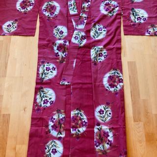 可愛いピンク&花柄の浴衣 ゆかた 着物 和服 花火大会