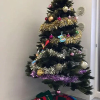 クリスマスツリー特大180cm イルミネーションライト飾り全部付き