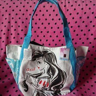 【新品、未使用】ディズニー プリンセス リトルマーメイド トートバッグ