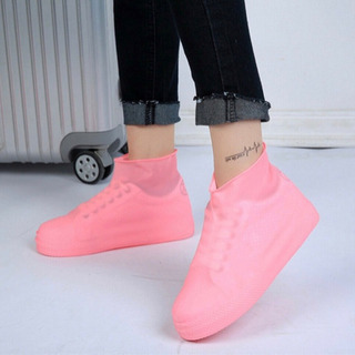 携帯 レインシューズ ピンク サイズM