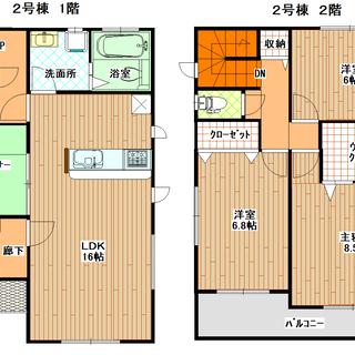 ☆みどり町3丁目の新築戸建(2号棟)☆広々リビング♪☆近隣にうるま...
