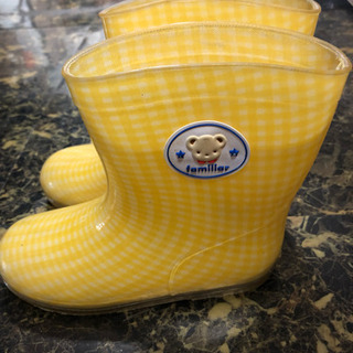 familiar 黄色にくまちゃんの長靴 19cm