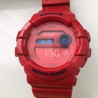 カシオ ベビーG Baby-G 腕時計 赤 RED 防水 CAS...