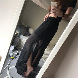 海外購入 シースルー スカート