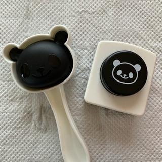シリコンカップセット、パンダおにぎり型とパンチ