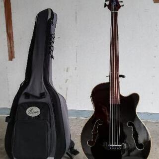エレアコベースギター5弦フレットレス