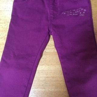 美品 BeBe 100サイズ 紫色 ボトムス 女の子