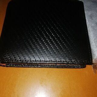 【高級本皮】カーボンレザー 二つ折り財布【Legare-fact...