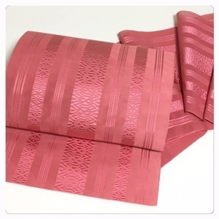 夏帯 特選 紗献上 博多帯 名古屋帯 正絹(赤ピンク)