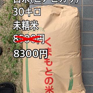 お米 コメ 白米 未精米 30キロ