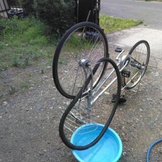 自転車のパンク修理します