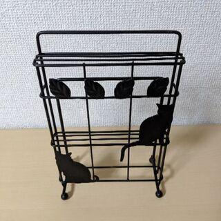 黒猫 まな板&包丁スタンド