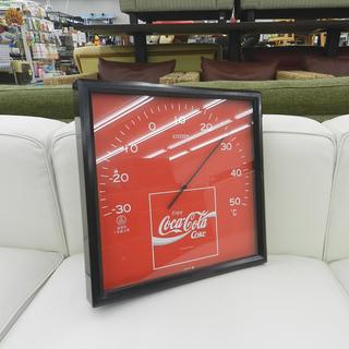 コカ・コーラ 温度計 正方形 28×28㎝ 壁掛け可能 Coca-...