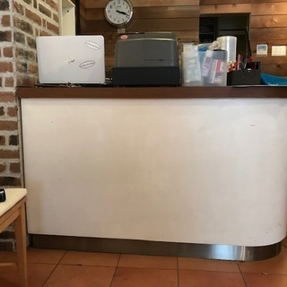 L型 レジカウンター 作業台 店舗什器