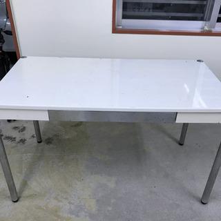 【お引取決まりました】テーブル 白 木製ゴミ箱もつけます